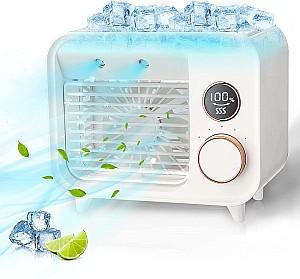 Jeteven 5in1 Klimagerät (Mobile Klimaanlage, Befeuchtungsfunktion, Nachtlicht, Aromatherapie) für 25€