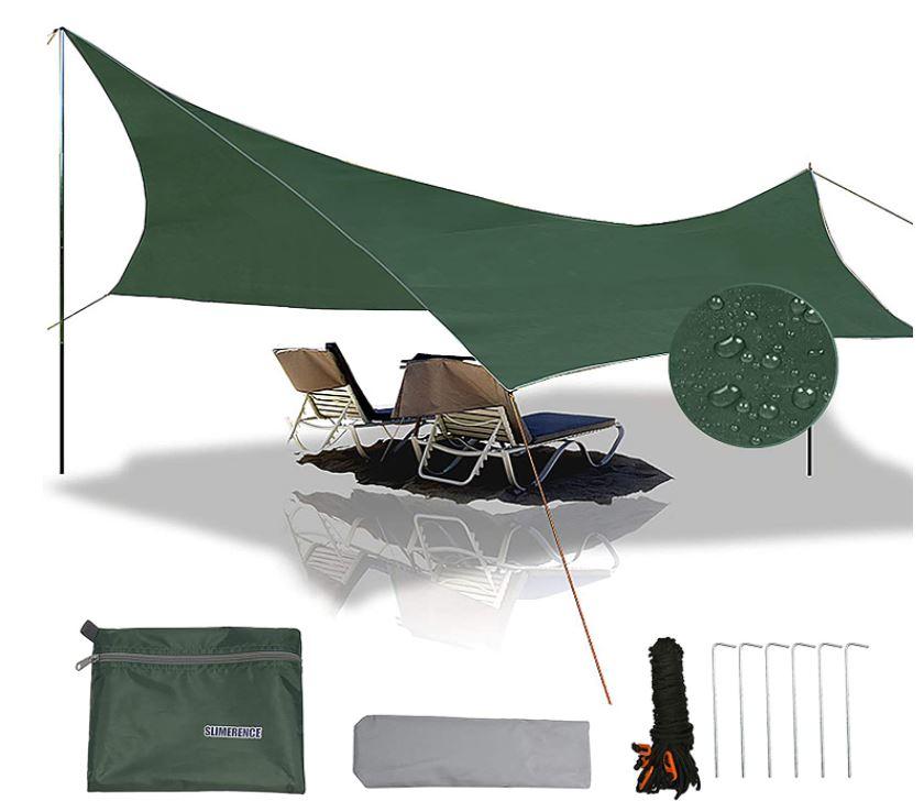 Slimerence Camping Sonnen-/Regenschutzplane für nur 15,39€