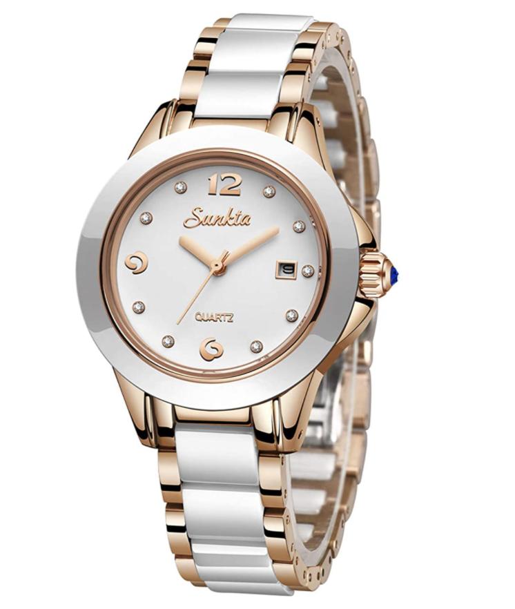 LIGE Damen Quarz Armbanduhr für nur 20,49€
