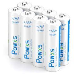 8er Pack POWXS AA Akkus mit 2.000 mAh für nur 5,49€