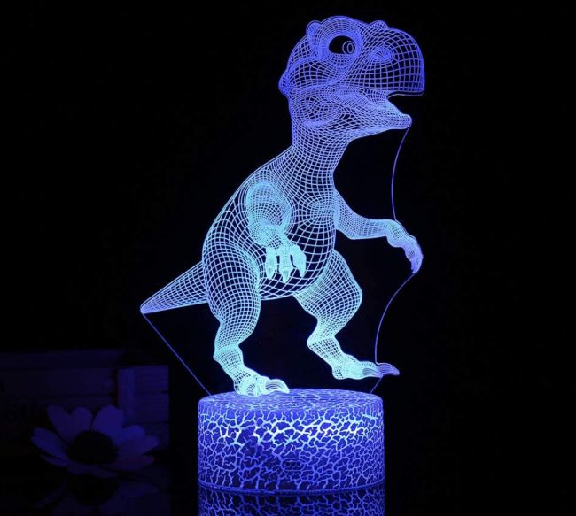 Shineslay 3D Dinosaurier LED-Nachtlicht