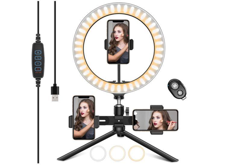 HAPAW Selfie Ringlicht Stativ mit Handyhalter